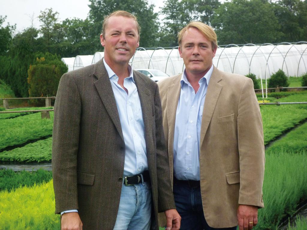 Klaus-Jürgen und Wilfried Eberts von der Jungpflanzen Baumschule Eberts in Tangstedt bei Pinneberg